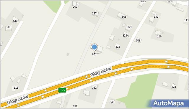 Głogoczów, Głogoczów, 851, mapa Głogoczów