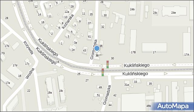 Kraków, Gromadzka, 38, mapa Krakowa