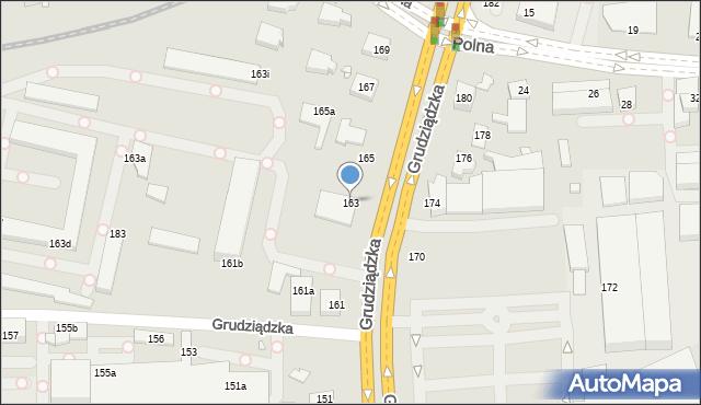 Toruń, Grudziądzka, 163, mapa Torunia
