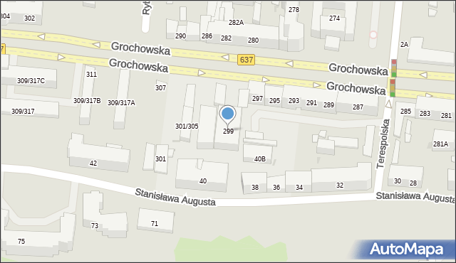 Warszawa, Grochowska, 299, mapa Warszawy