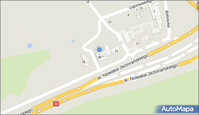 Bytom, Hutnicza, 26, mapa Bytomia
