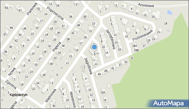 Kędzierzyn-Koźle, Jagodowa, 5, mapa Kędzierzyna-Koźle
