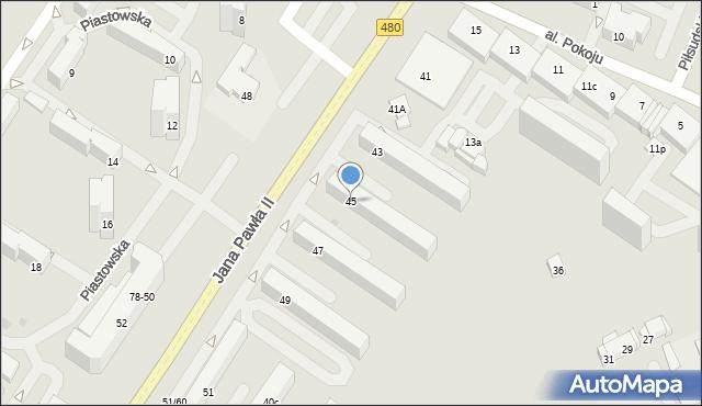 Sieradz, Jana Pawła II, 45, mapa Sieradz