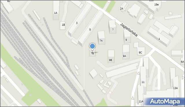 Sosnowiec, Jagiellońska, 7B, mapa Sosnowca