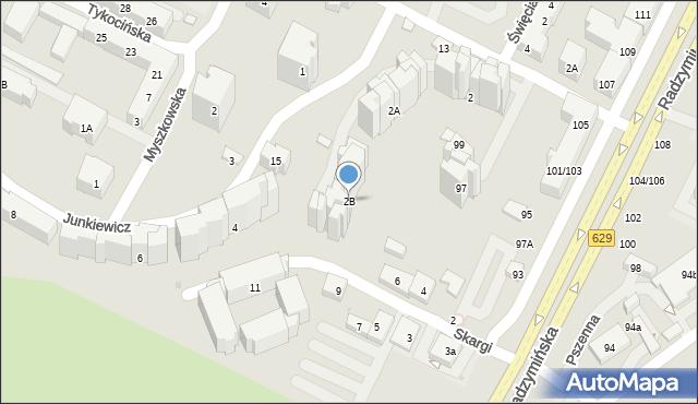 Warszawa, Junkiewicz Heleny, 2B, mapa Warszawy