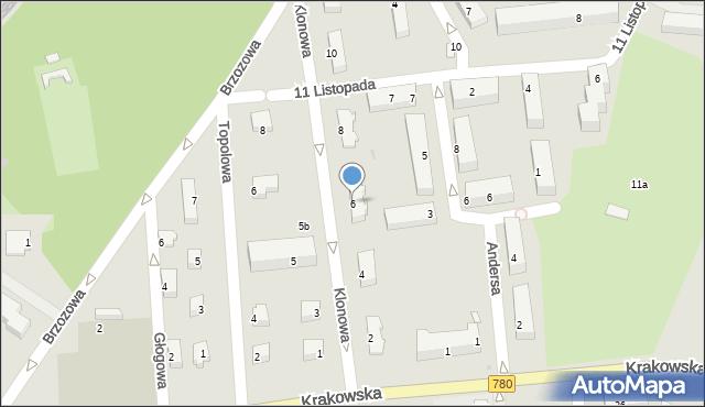 Chełmek, Klonowa, 6, mapa Chełmek