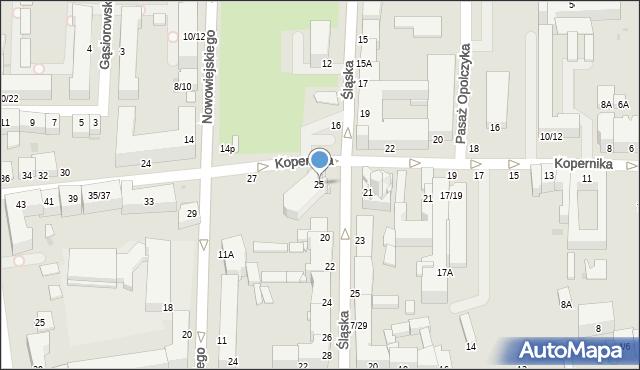 Częstochowa, Kopernika Mikołaja, 25, mapa Częstochowy