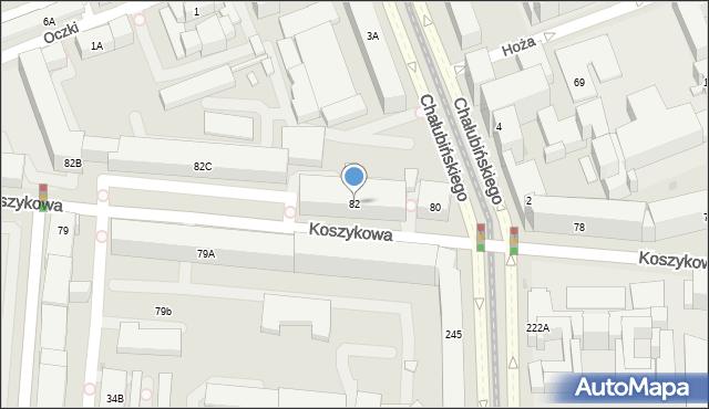 Warszawa, Koszykowa, 82, mapa Warszawy