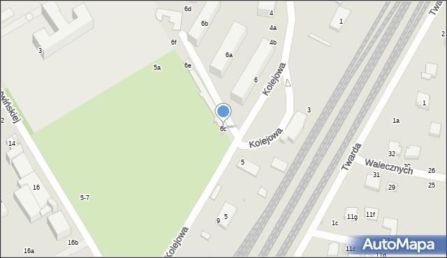 Zgierz, Kolejowa, 6c, mapa Zgierz