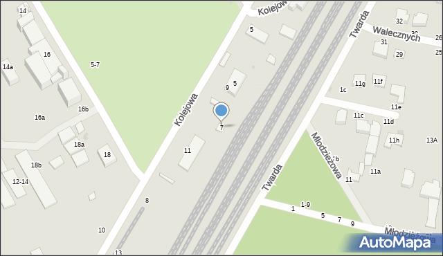 Zgierz, Kolejowa, 7, mapa Zgierz