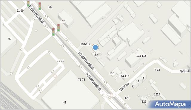 Wrocław, Krakowska, 112, mapa Wrocławia