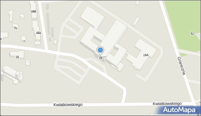 Pułtusk, Kwiatkowskiego Teofila, 19, mapa Pułtusk