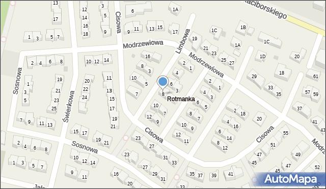 Rotmanka, Limbowa, 8, mapa Rotmanka