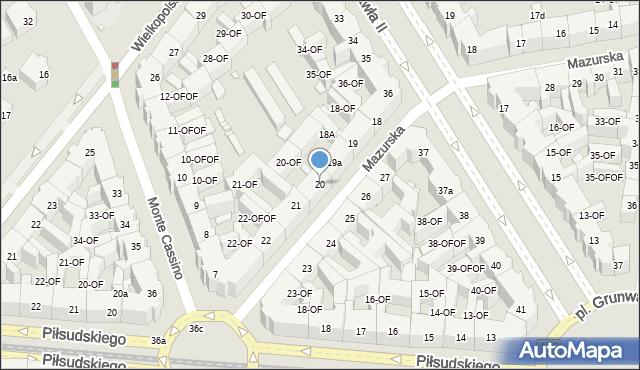 Szczecin, Mazurska, 20, mapa Szczecina