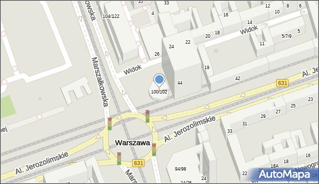 Warszawa, Marszałkowska, 100/102, mapa Warszawy