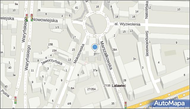 Warszawa, Marszałkowska, 37, mapa Warszawy