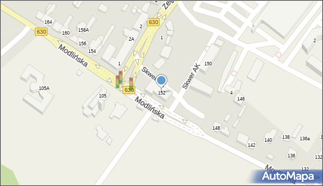 Jabłonna, Modlińska, 152, mapa Jabłonna