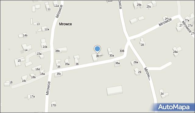 Zakopane, Mrowce, 30, mapa Zakopanego