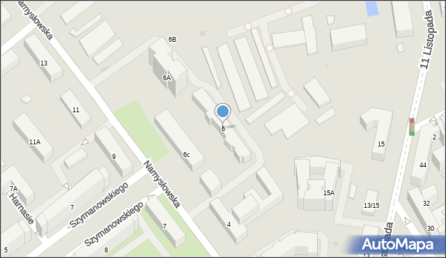 Warszawa, Namysłowska, 6, mapa Warszawy