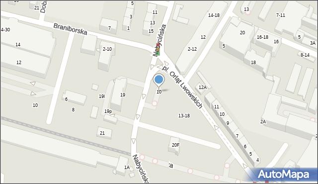 Wrocław, Nabycińska, 10, mapa Wrocławia