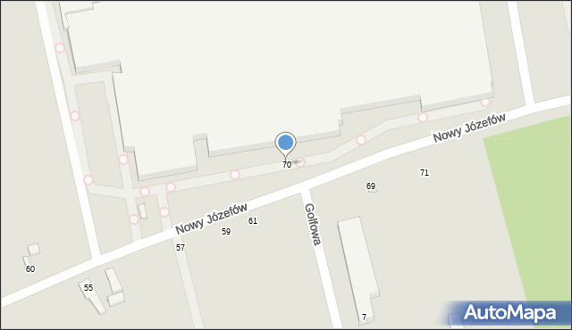 Łódź, Nowy Józefów, 70, mapa Łodzi