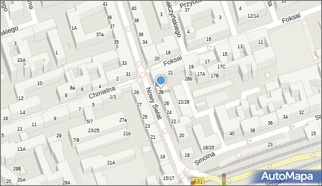 Warszawa, Nowy Świat, 28, mapa Warszawy