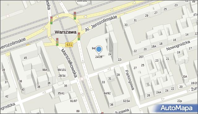 Warszawa, Nowogrodzka, 24/26, mapa Warszawy