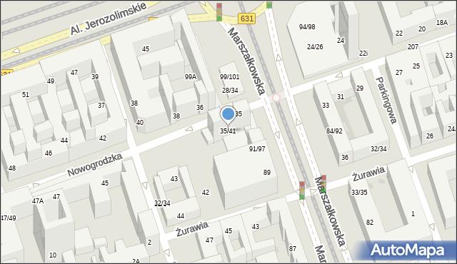 Warszawa, Nowogrodzka, 35/41, mapa Warszawy