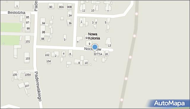 Zabrze, Noconiów, 12, mapa Zabrza