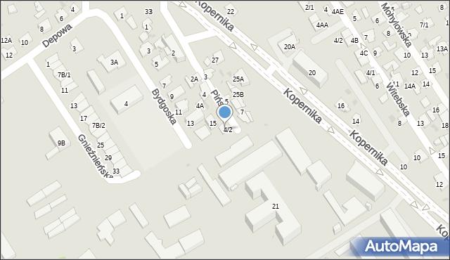Białystok, Pińska, 6, mapa Białegostoku