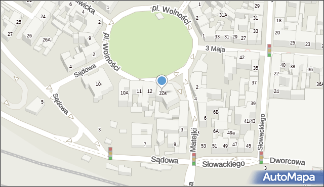 Katowice, Plac Wolności, 12a, mapa Katowic