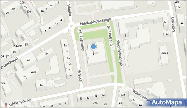 Szczecin, Plac Teatralny, 1, mapa Szczecina