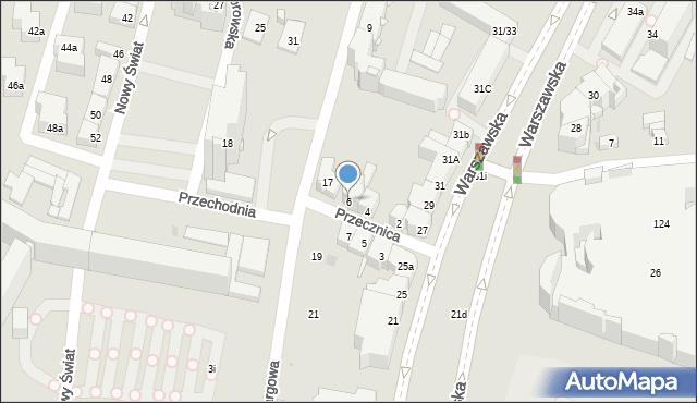 Kielce, Przecznica, 6, mapa Kielc