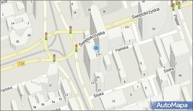 Warszawa, Rondo ONZ, 1, mapa Warszawy