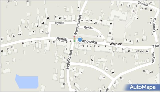 Wojnicz, Rynek, 7, mapa Wojnicz