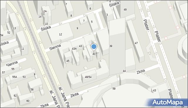 Warszawa, Sienna, 41, mapa Warszawy