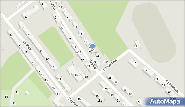 Łódź, Skalna, 22, mapa Łodzi