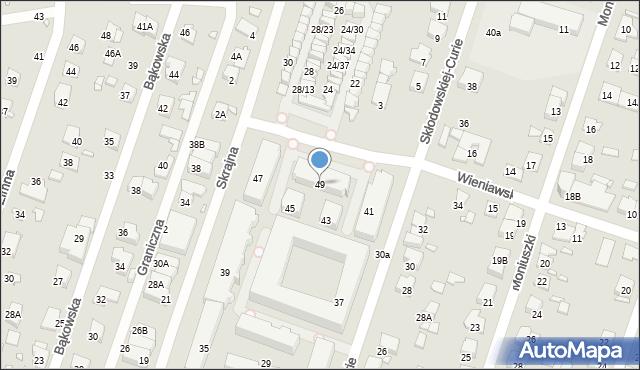 Pruszków, Skłodowskiej-Curie Marii, 49, mapa Pruszków