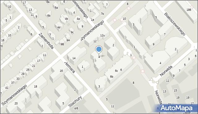 Gdańsk, Słonimskiego Antoniego, 4, mapa Gdańska