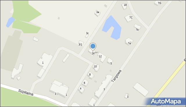 Kętrzyn, Sportowa, 14, mapa Kętrzyn