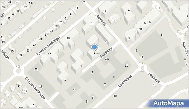 Gdańsk, Stachury Edwarda, 5, mapa Gdańska