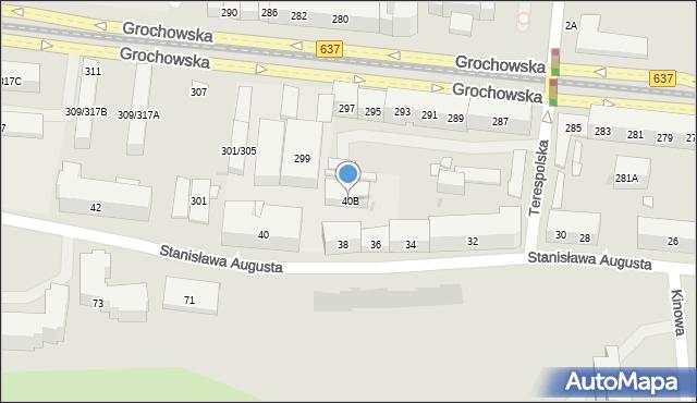Warszawa, Stanisława Augusta, 40B, mapa Warszawy