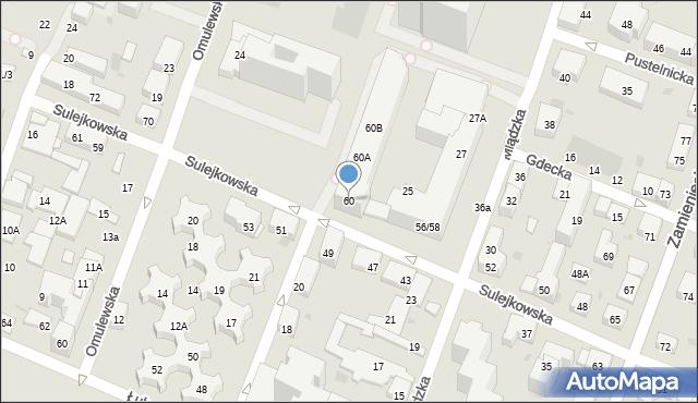 Warszawa, Sulejkowska, 60, mapa Warszawy