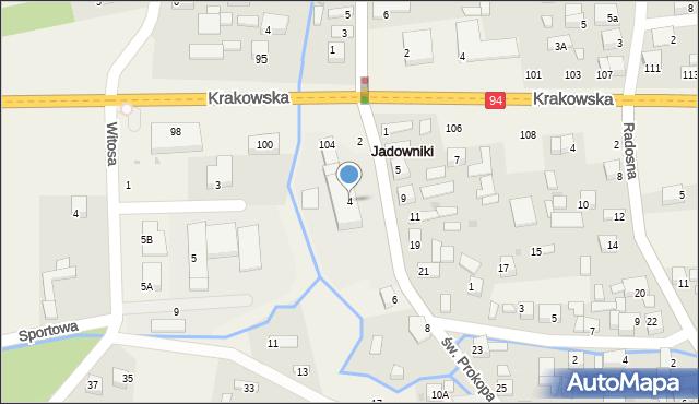prokop mapa św. Prokopa 4 (ul), 32 851 Jadowniki prokop mapa