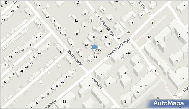 Gdańsk, Szymanowskiego Karola, 9d, mapa Gdańska