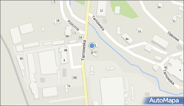 Limanowa, Tarnowska, 6, mapa Limanowa