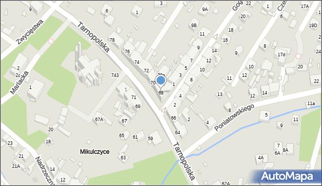 Zabrze, Tarnopolska, 68, mapa Zabrza