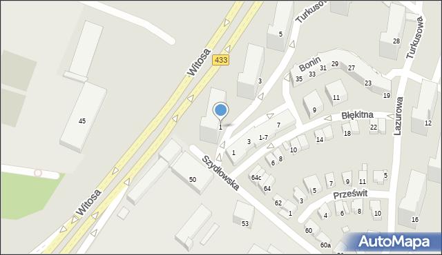 Poznań, Turkusowa, 1, mapa Poznania