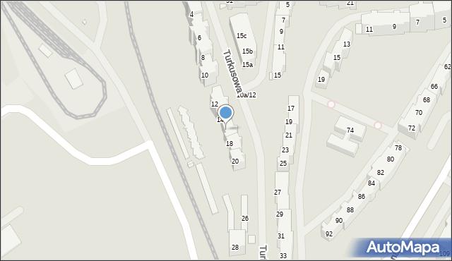 Szczecin, Turkusowa, 16, mapa Szczecina