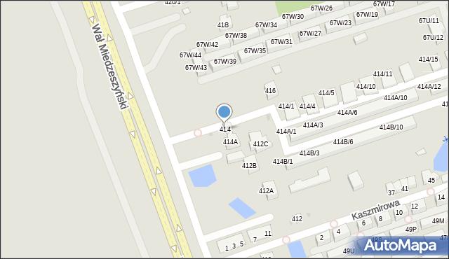 Warszawa, Wał Miedzeszyński, 414, mapa Warszawy